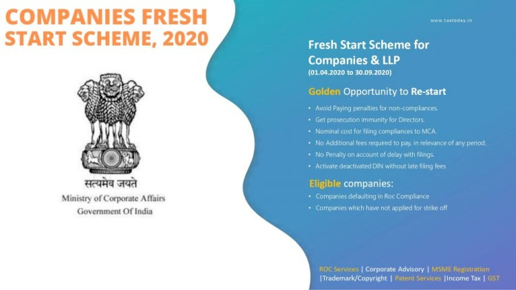 Practical Aspects of Company Fresh Start Scheme 2020